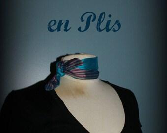 Les Petites Lyons - Little Blue retro scarf