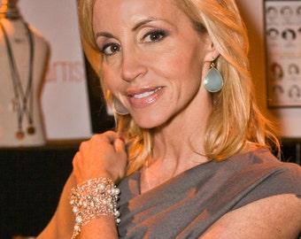 Statement Bracelet Wide Cuff Bracelet Beaded Bracelets Oversized Statement Jewelry Arm Cuffs Handmade Jewelry Gift Fashion Jewelry for her