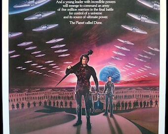 "DUNE ~ Original Rolled U.S. 1 Sht. MP 1984 ~ 27""x41"" Very Fine Cond. ~ Fantastic Image for Lynch Sci-Fi Epic! Kyle MacLachlan & Sting Star!"