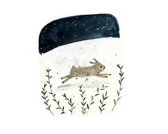 Run Rabbit - archival art print