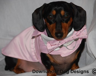 The Pink Dog Tux coat 2 piece custom sizes