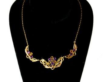 Vintage 1940s Gold Filled Necklace