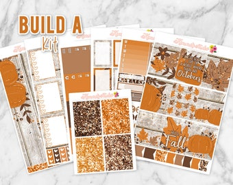 Hello Fall Build-A-Kit! Choose your own sheets! Erin Condren Life Planner Weekly Sticker Kit   Fall Planner Stickers, Autumn