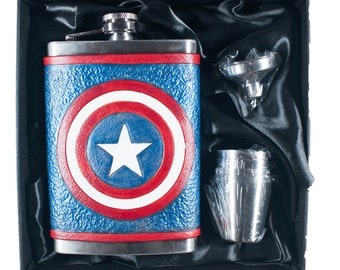 Captain America Flask Set