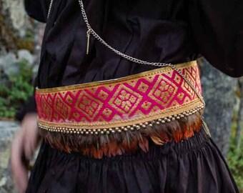 Feather Belt, Handmade.