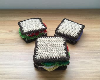 Crochet Play Food Sandwich Kit