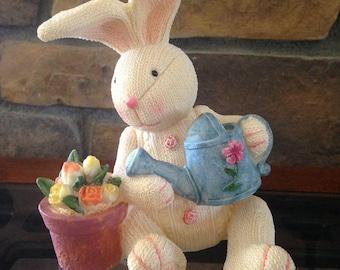 Easter Bunny Figurine, Easter Decor Statue