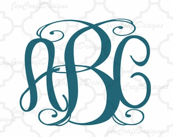 Classy Vine Interlocking Monogram Alphabet svg Upper & Lower Cutting File- SVG EPS Dxf Cut Files A-Z Alphabet Shilhouette and Cricut Ds