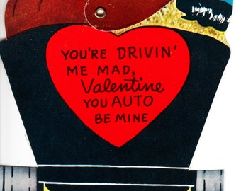 Your Driving me mad Valentine, you auto be mine.  Moveable 1950s