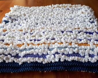 Crochet ruffled baby blanket