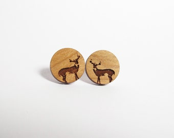 Wild Buck Post Earrings