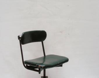 Vintage Industrial Office Desk Chair Swivel Height Adjustable Chair