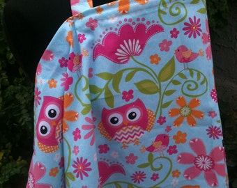 Nursing Cover, Breastfeeding Feeding Cover up, Nursing cover up, Pink Owls Nursing Cover