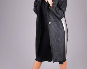 Womens Coats,Womens Coats Plus Size,Black Coats,Long Coats,Plus Size Clothing,Avant Garde Coat, Avant Garde Clothing