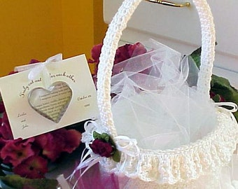 CROCHET PATTERN Flower Girl Basket WEDDING Bridal