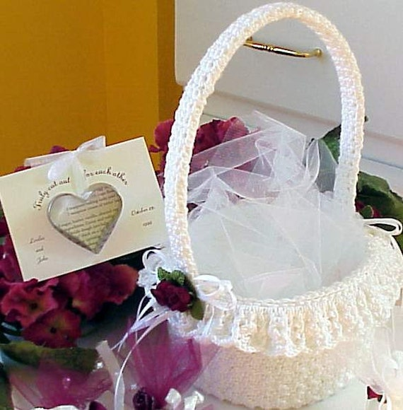 CROCHET PATTERN Flower Girl Basket WEDDING Bridal