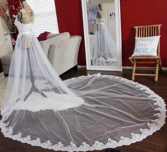 4ft Soft Tulle Overskirt Train Lace Floor Skirt / Wedding
