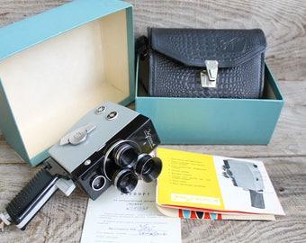 Genuine Camera - Old Vintage Soviet  Movie Ekran 4 -  1970 - Vintage Soviet Film Camera - Cine Camera - Collectible Camera - Working Camera
