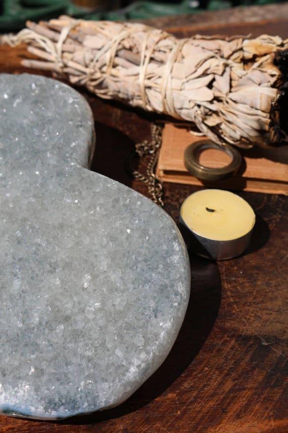 Raw Amethyst Druzy Heart 3.25 lbs., Amethyst Crystal Heart, Heart Shaped Amethyst Cluster, Large Amethyst Geode, Raw Amethyst, Valentines