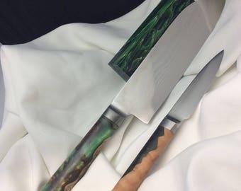 Custom kitchen knife set #369 & #370