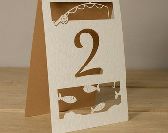 Gone Fishing Table Numbers (Priced Each)