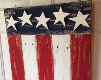 Reclaimed Wood Flag Sign