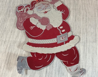 Foil Aluminum Hanging Santa Claus Christmas Decoration