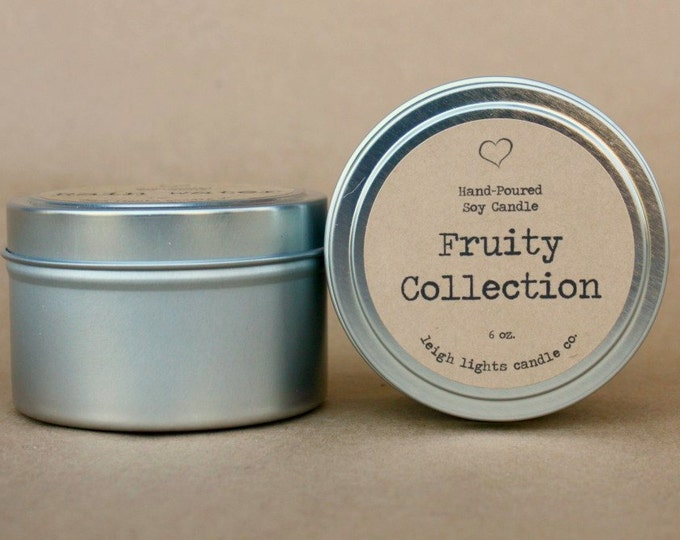 6 oz. Travel Tin   Fruity Collection   Soy Candle   CHOOSE YOUR SCENT