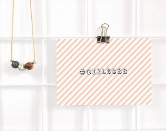 girlboss postcard