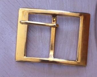 bag or belt loop rectangular fancy gold metal