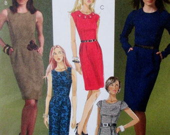 McCalls  2009  #M5927  Misses Fashion Sheath Dress Sizes 4-6-8-10-12   UNCUT Sewing Pattern
