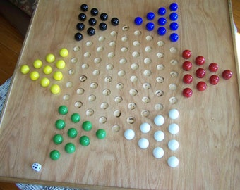 "SALE! Double sided large 2 game board! 24"" square; Chinese checkers, Aggravation or Chase the Rat"