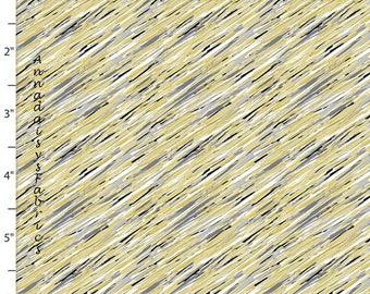 Gris, noir, jaune tissu abstrait, croquis diagonale Quilt quilteuses Palette Marbella Collection 12636 gris, tissu coton abstrait Yardage