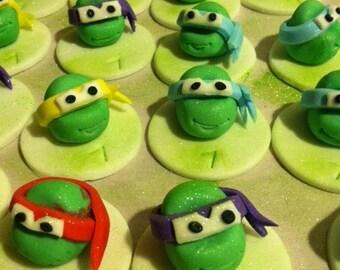 Edible Turtles Cupcake Toppers