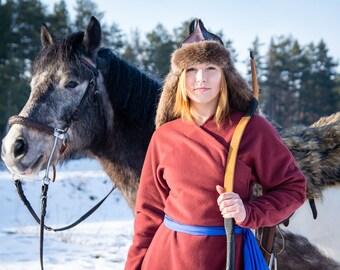 Mongolian Deel / Asian Historical Wool Coat