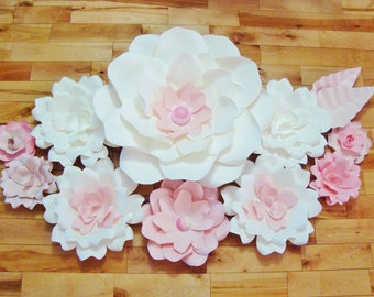 Paper Flowers Set of 10 - Flowers for Baby Nursery | Wall Decor for Baby Room | Home Decor | Flower Wall Decor | Paper Flower Backdrop