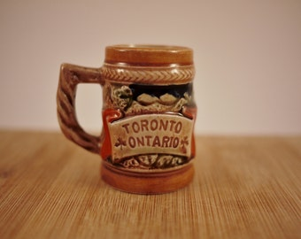 Vintage Miniature Stein / Toothpick Holder Souvenir from Toronto Canada Made in Japan