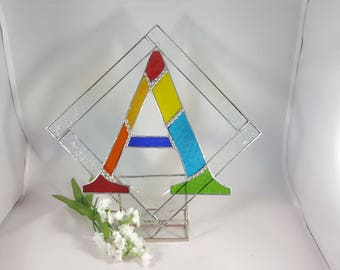 Stained Glass Initial Letter A