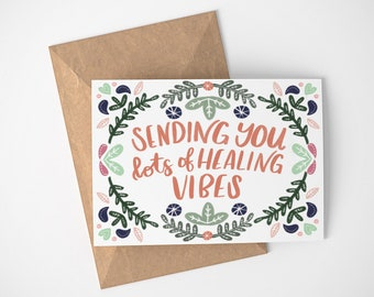 Get Well Cards, Thinking of You Cards, Healing Vibes, Floral Get Well Cards, Blank Get Well Cards, Thoughtful Get Well Card