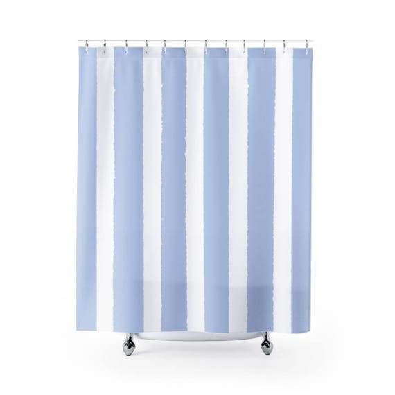 Periwinkle Shower Curtain . Periwinkle Striped Shower Curtain . Modern Blue Shower Curtain . Shower Curtain . Blue Striped Shower Curtain