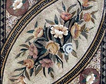 Azulejo mosaico patrón diseño-Paisley