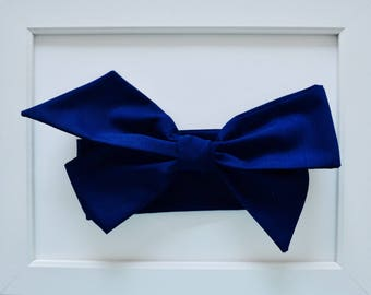 Dark Navy Blue Head-wrap/Oversized Bow Headband/Infant Headband/Toddler Headband/Baby Headband/Baby Shower Gift