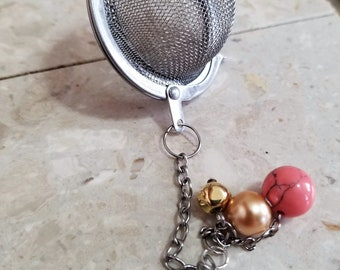 Stainless steel infuser- Pink & Gold