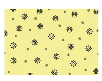 Unique High Quality Lemon Floral Gift Wrapping Paper-Size A3 - GP121