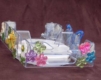 Custom Revolving Canasta Tray - Butterflies are Free
