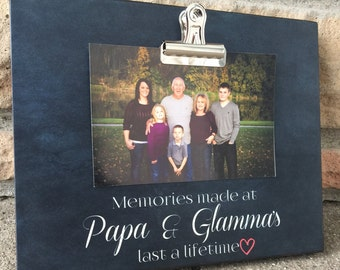 Personalized Gift For Grandparents, Memories Made, Gift For Grandma, Gift For Grandpa, Meme and Papa, Christmas Gift, 8x10 Photo Board