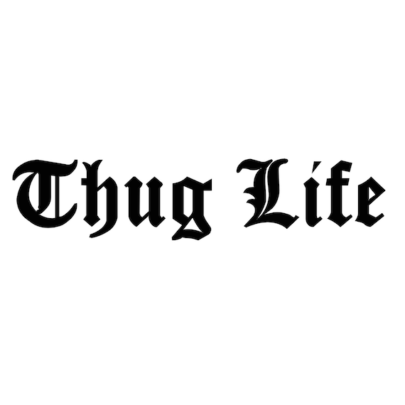 Thug life decal any color any size lowerd car decal jdm tuner internet funny stickers car stickers tuner decal custom from creebuiltdecals on