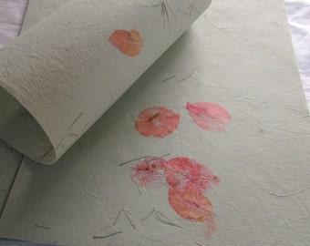 Green Petal Paper- 12 Sheets