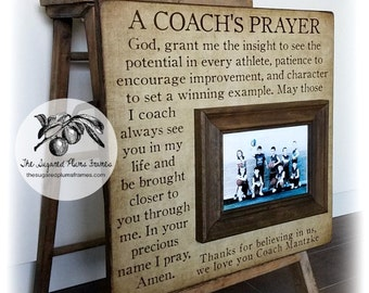 Basketball Coach Gift, Coach Thank You Gift, Coach Frame, A Coach's Prayer, 16x16 The Sugared Plums Frames