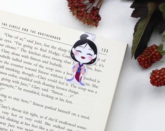 hua Mulan - Magnetic bookmark || gift for book lovers, geisha, anime, bookish, bookworm, geisha, page clips, magnetic bookmarks